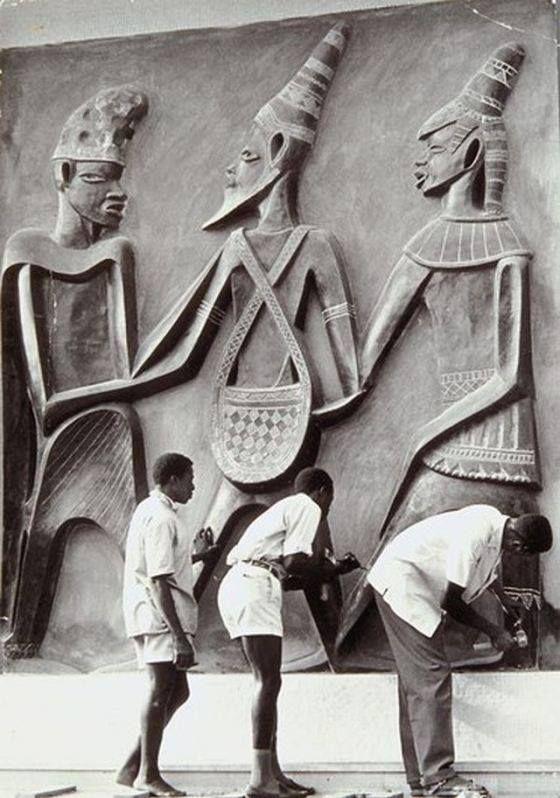 Felix Idubor (1928-1991) was a Nigerian sculptor from Benin