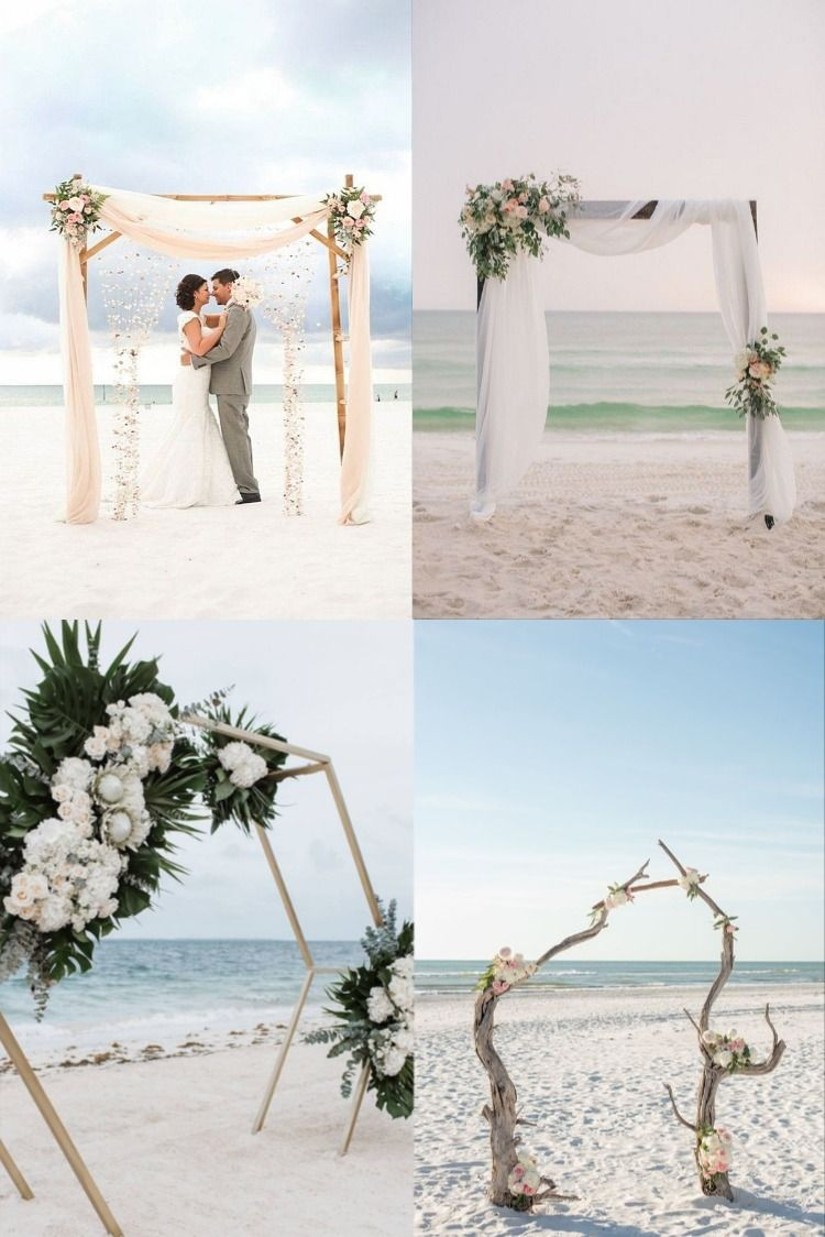 20 Beach Wedding Ceremony Arch Ideas For 2020 Beach Wedding Pink