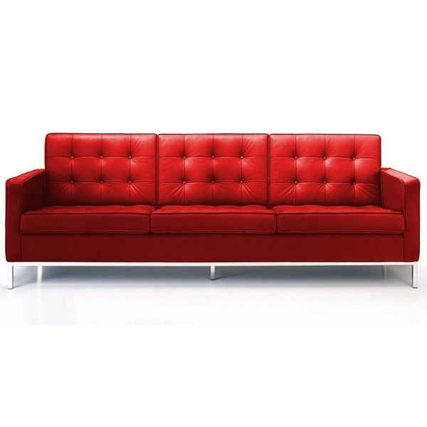 Rove Concepts Florence Knoll Sofa Modena Red Reproduction 3 815 Liked On Polyvore