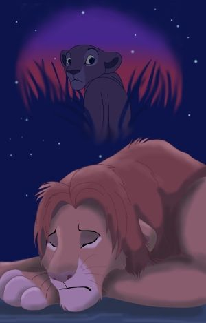 Simba S Last Look By Banzai555 On Deviantart Lion King Fan Art Lion King Drawings Lion King Pictures