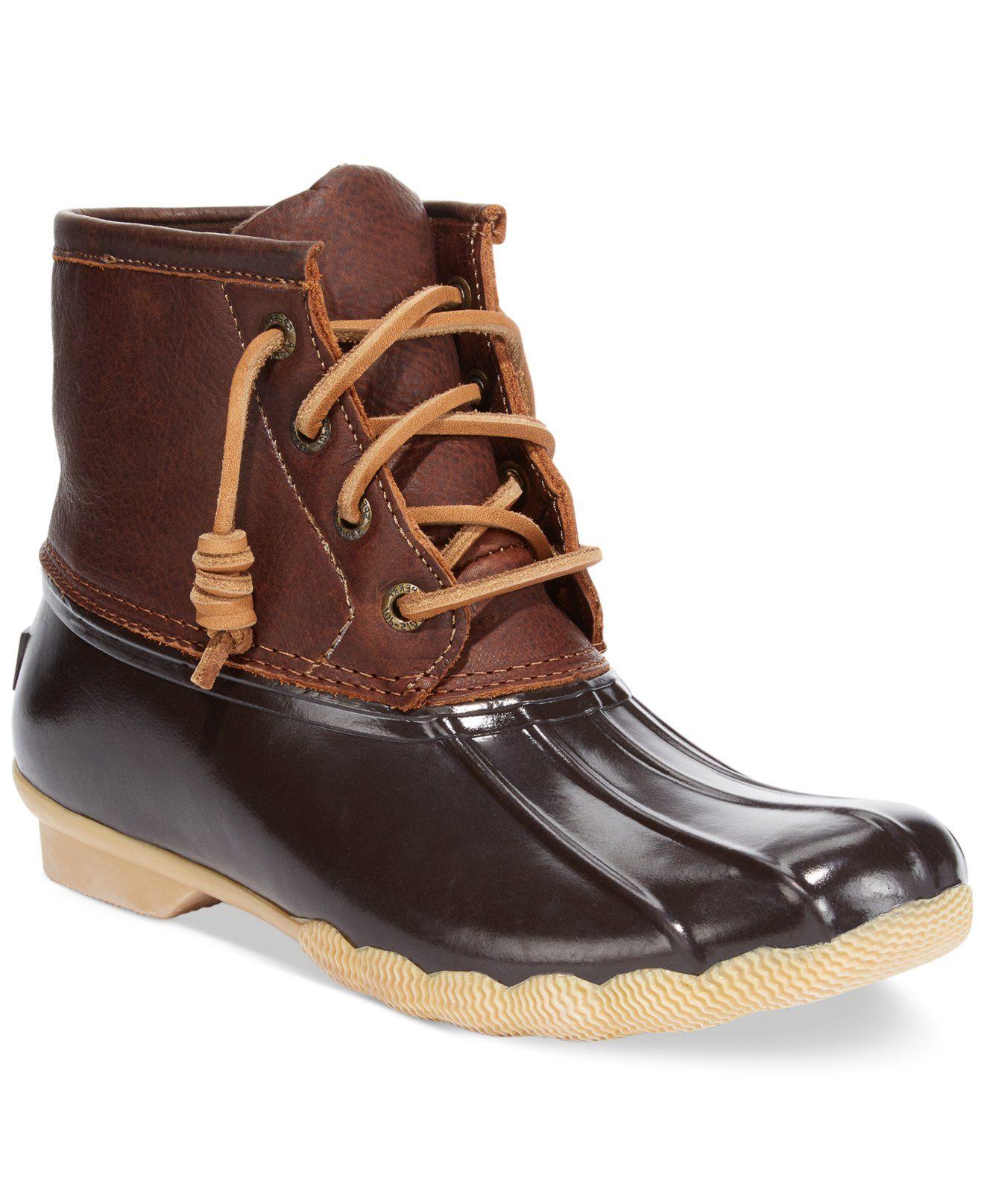 3c1e19f0f837 Sperry Top-Sider Women s Salt Water Duck Booties - Winter   Rain Boots -  Shoes - Macy s