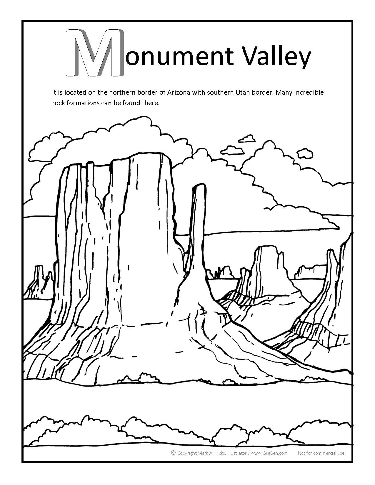 Monument Valley Coloring Page At Gilaben In