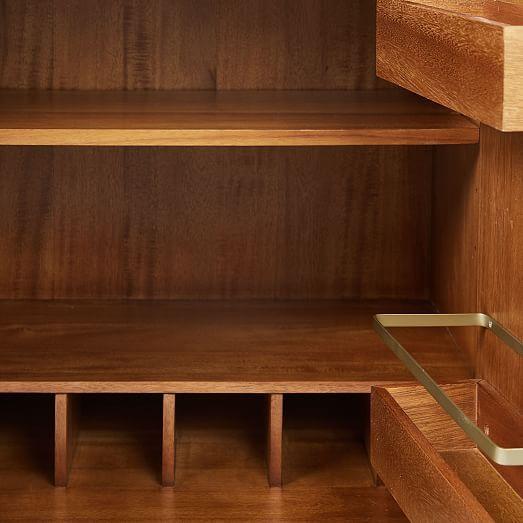 Door Storage Mid Century Bar Cabinet Small Westelm