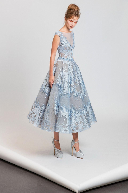 Tony Ward S/S 2017: Modern Cinderella look! I love the light blue ...