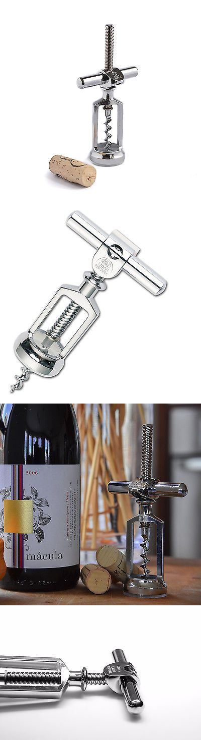 Corks And Openers 20688 Boj Vintage Style Chrome Plated Cellar Type Cork Bottle Opener Silver It Now Only 20 95 On Ebay