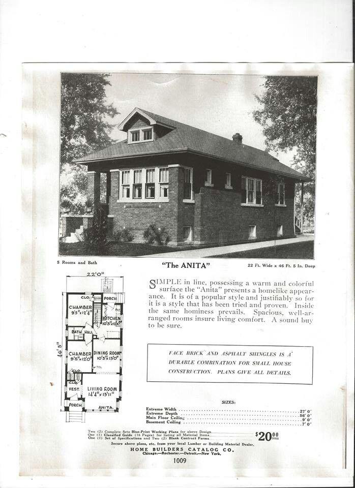 Chicago Bungalow Chicago Architecture Vintage House Plans