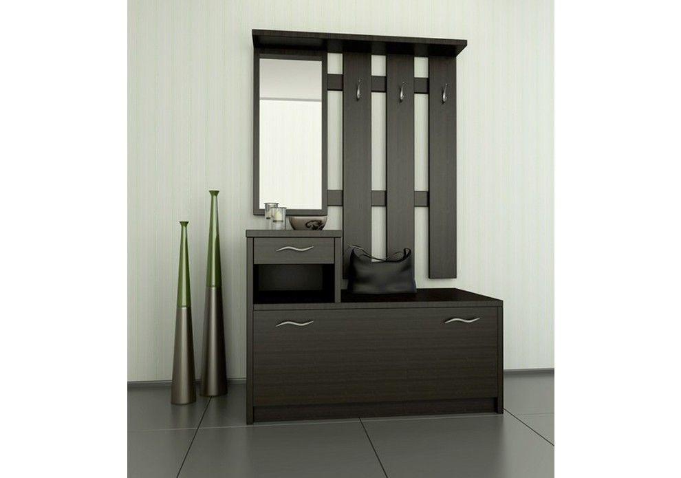Promo VERONICA - Meuble d\u0027entrée wengé-meuble vestiaire House