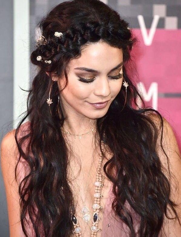 Pinterest Deborahpraha Vanessa Hudgens Crown Braid And