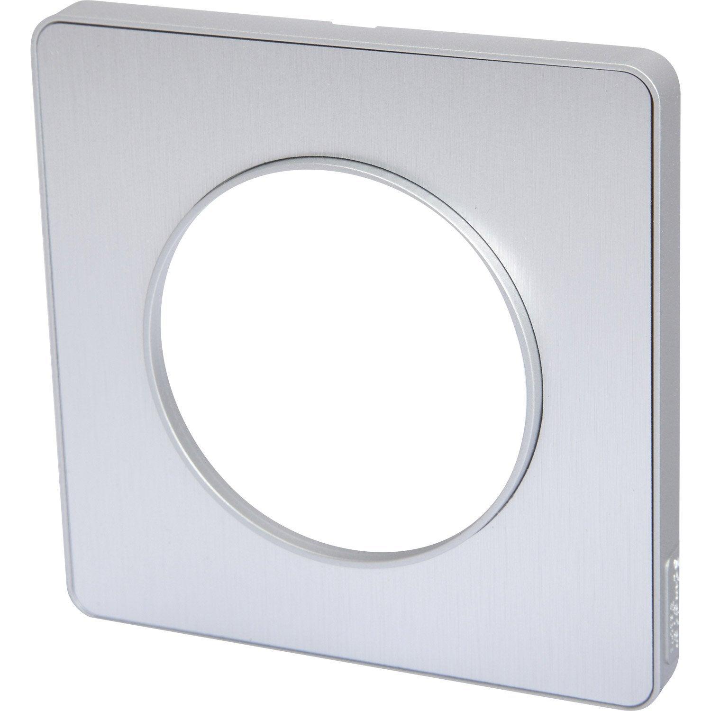 Plaque Simple Odace Schneider Electric Aluminium Brossé En