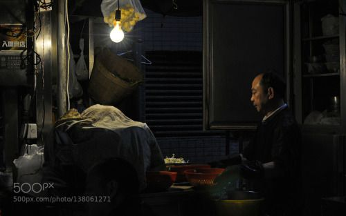 getting the hot pot ready by peterbaer