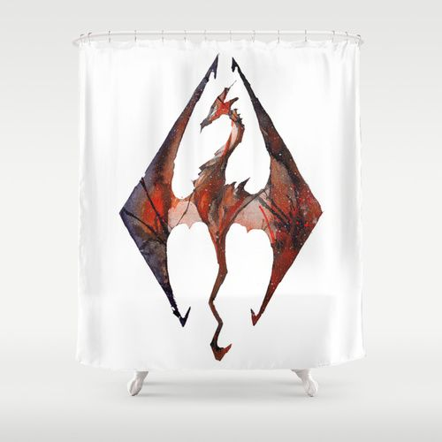 Skyrim Shower Curtain