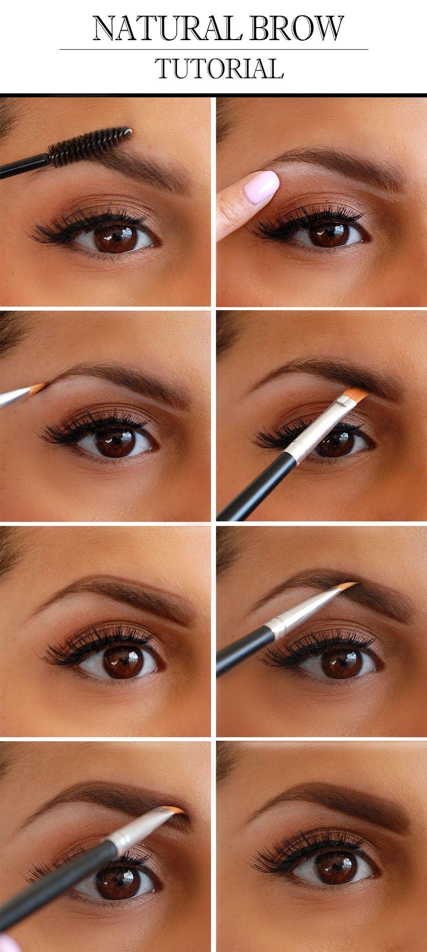 Natural Eyebrow Tutorial | Natural eyebrow tutorial ...