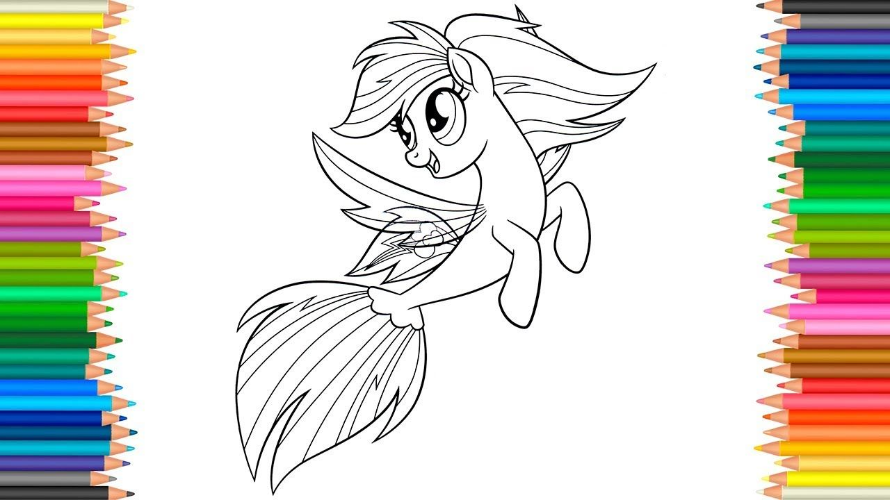 Rainbow Dash   my little pony: the movie coloring pages ...