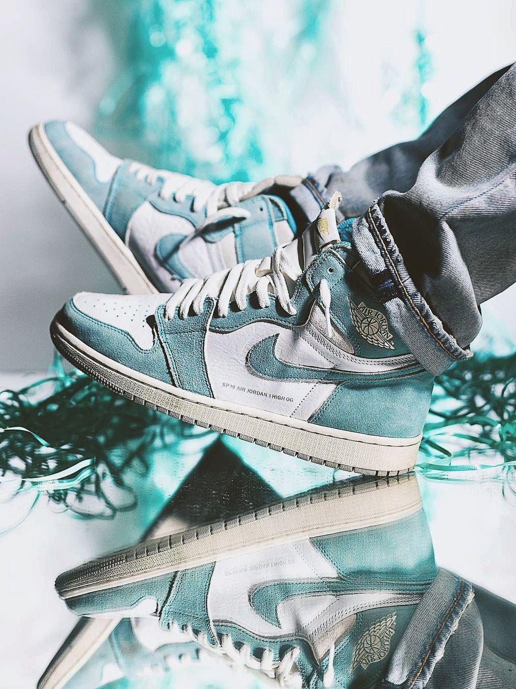 Nike Air Jordan 1 Turbo Green 2019 By Diecold Sneakers Men