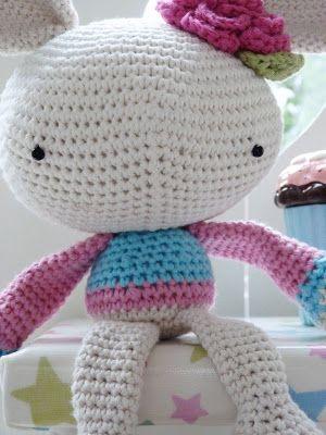 Ilona's blog: Crochet bunny, konijn haken