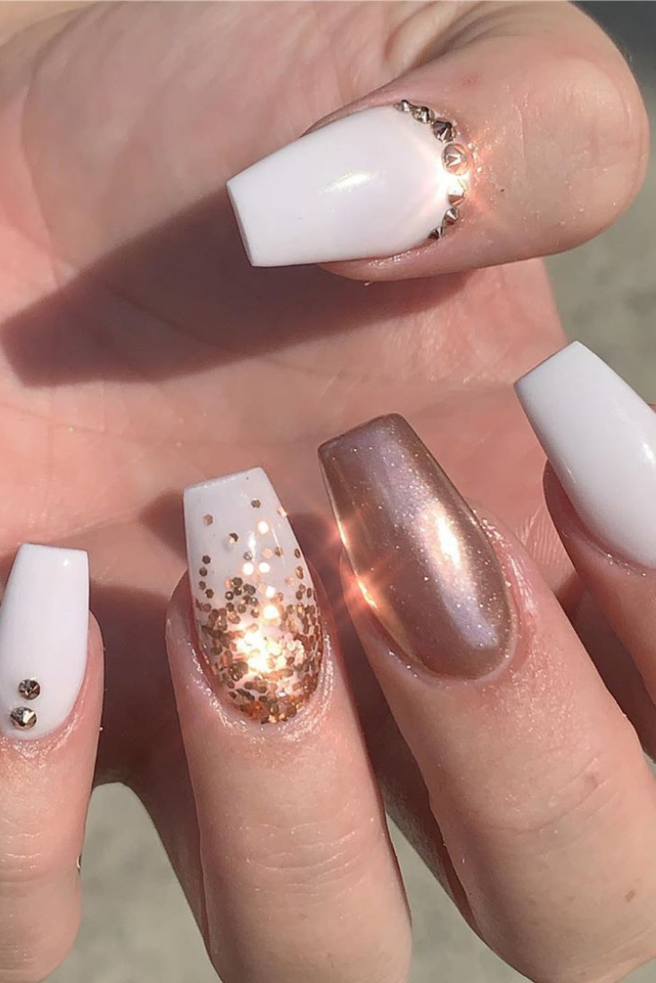 10 Fall Engagement Nails That Make Your Hand Beautiful Engagement Nails Beach Nail Designs Party Nails