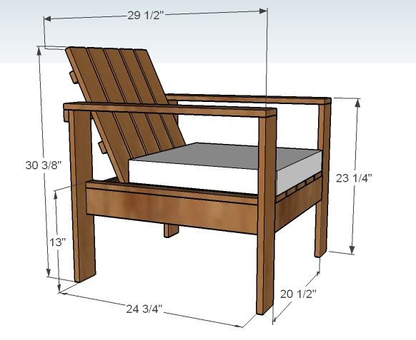 plans for simple outdoor lounge chair might work for our new deck