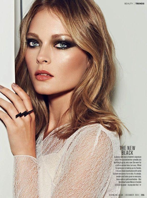 Beautiful holiday makeup inspiration via RED ONLINE