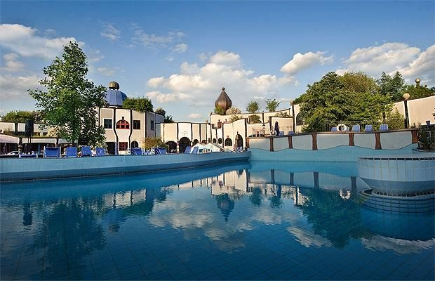 The world's best hotel pools -   Rogner Bad Blumau, Steiermark, Austria  The draw of this Austrian hotel is its thermal springs, which provide an ideal opportunity to recover from a day's trekking in the surrounding countryside.