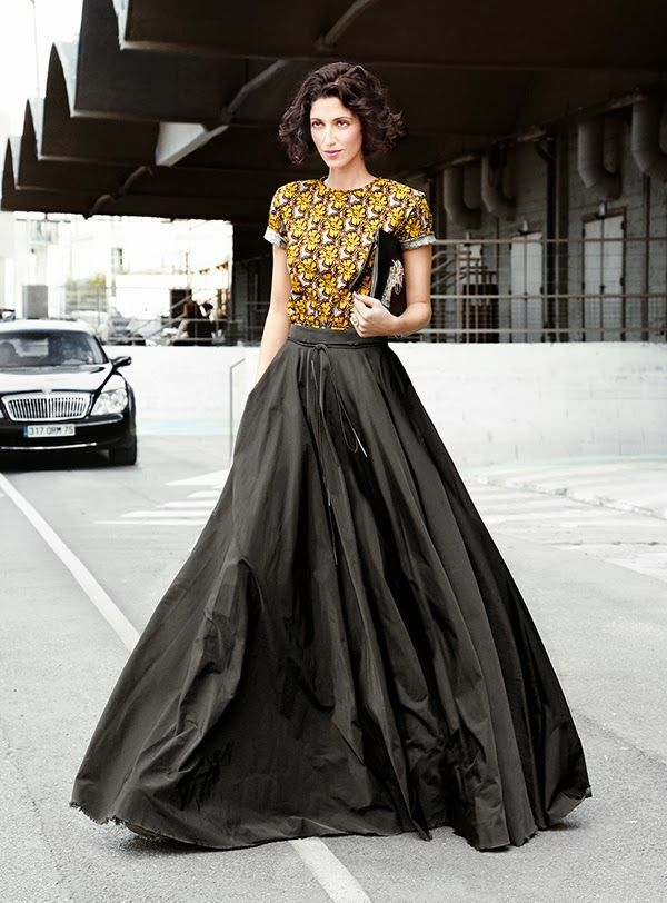 www.fashionclue.net | Fashion Tumblr, such a beautiful long skirt ...