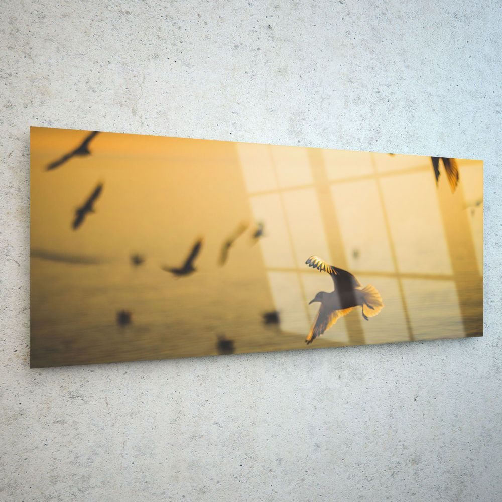 Wall Art Glass Print Canvas Picture Large Birds Flight Water p129844 ...