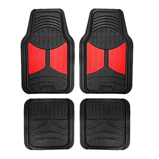 Amazon Com Fh Group F11313red Rubber Floor Red And Black Full
