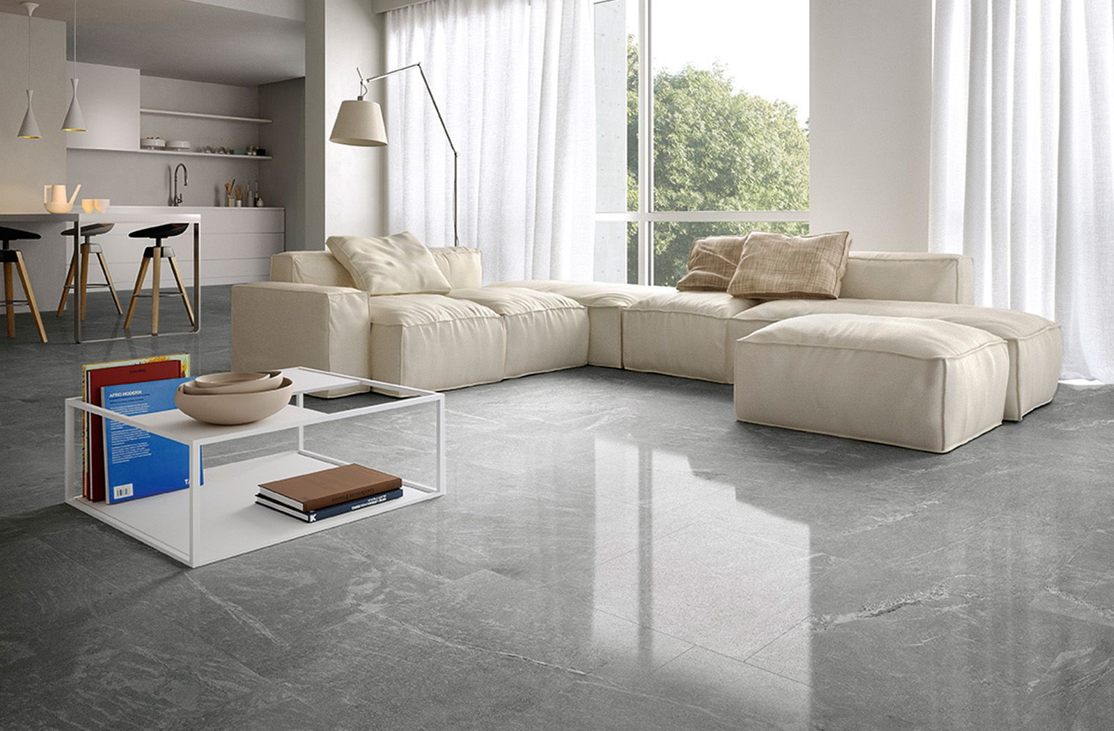 Modern living room idea with floor tiles from ceramiche caesar modern living room idea with floor tiles from ceramiche caesar portraits tile collection doublecrazyfo Choice Image