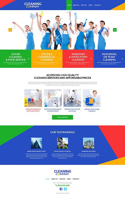Template 51991 - Cleaning Company Responsive WordPress Theme with ...