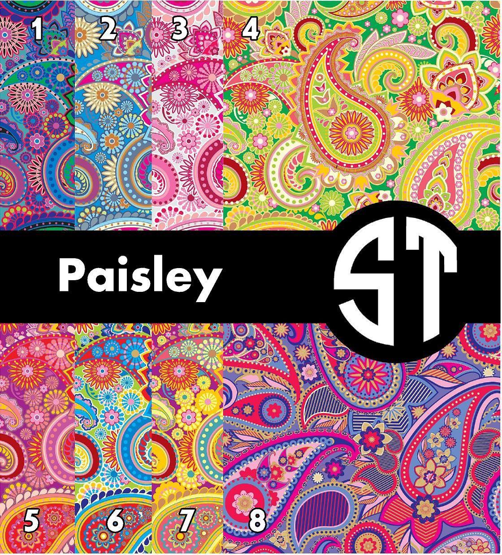 Paisley Patterns Printed Vinyl Or Heat Transfer Vinyl Iron On You Choose Size 6x6 8 5x11 12x12 12x24 Or 12x36 Liquid Fabric Softener Vinyl Print Patterns