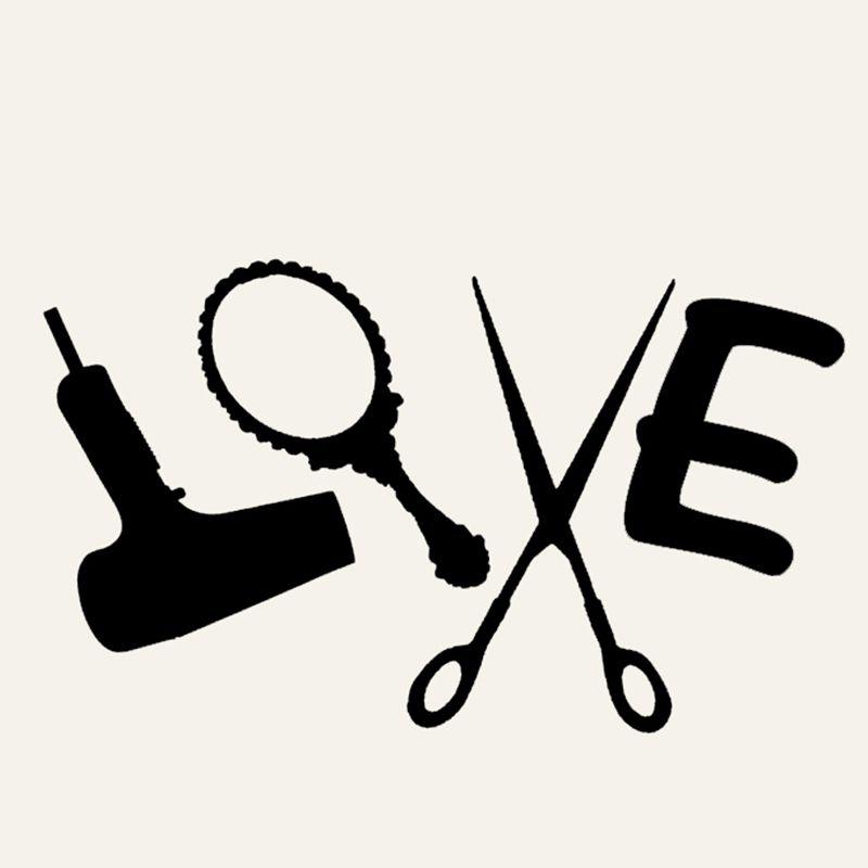 Download Wholesale 20pcs/lot Love Hair Stylist Sticker Decal Dryer ...