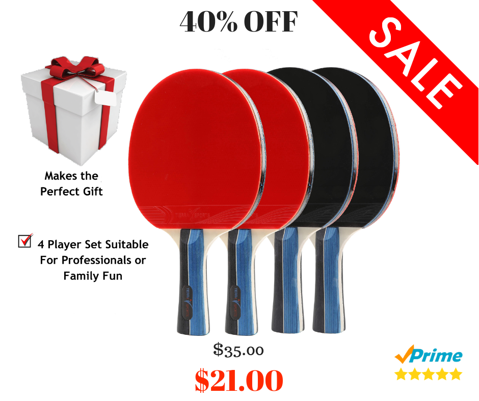Trademark Innovations Anywhere Table Tennis Set With Paddles And Balls Table Tennis Set Tennis Set Table Tennis
