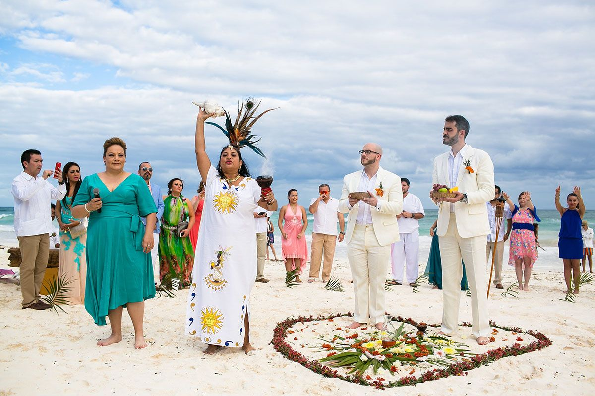 Beach Wedding At Akiin Tulum Club
