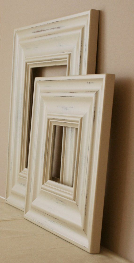 24x30 Picture Frame Vintage White Or Blue Madera Style In 2020 16x24 Picture Frame 20x30 Picture Frame Picture Frame Molding