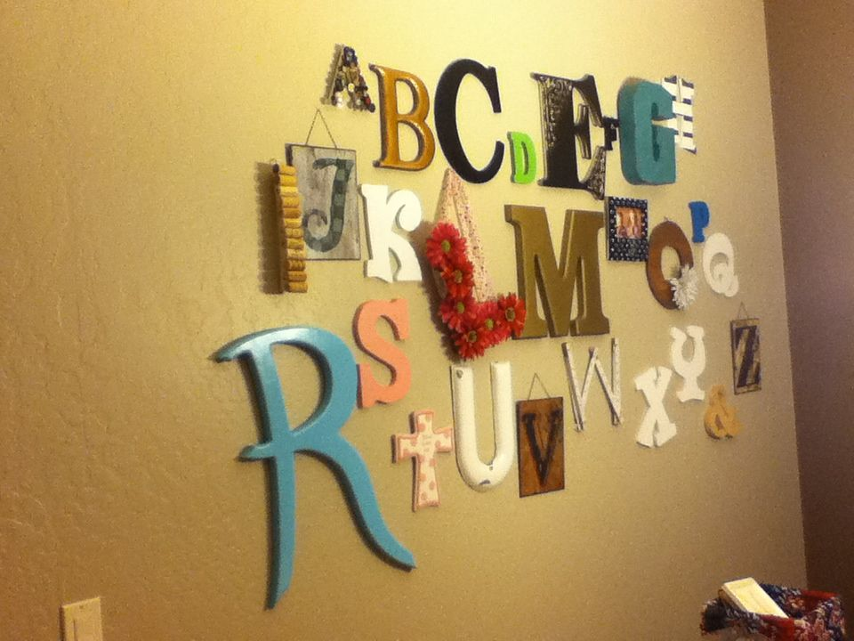 My alphabet wall seriously been on the hunt for letters for a YEAR ...