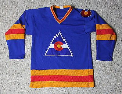 the best attitude 7f0c4 0a6b9 Vintage COLORADO ROCKIES NHL Hockey Jersey Adult S Pro-Joy ...