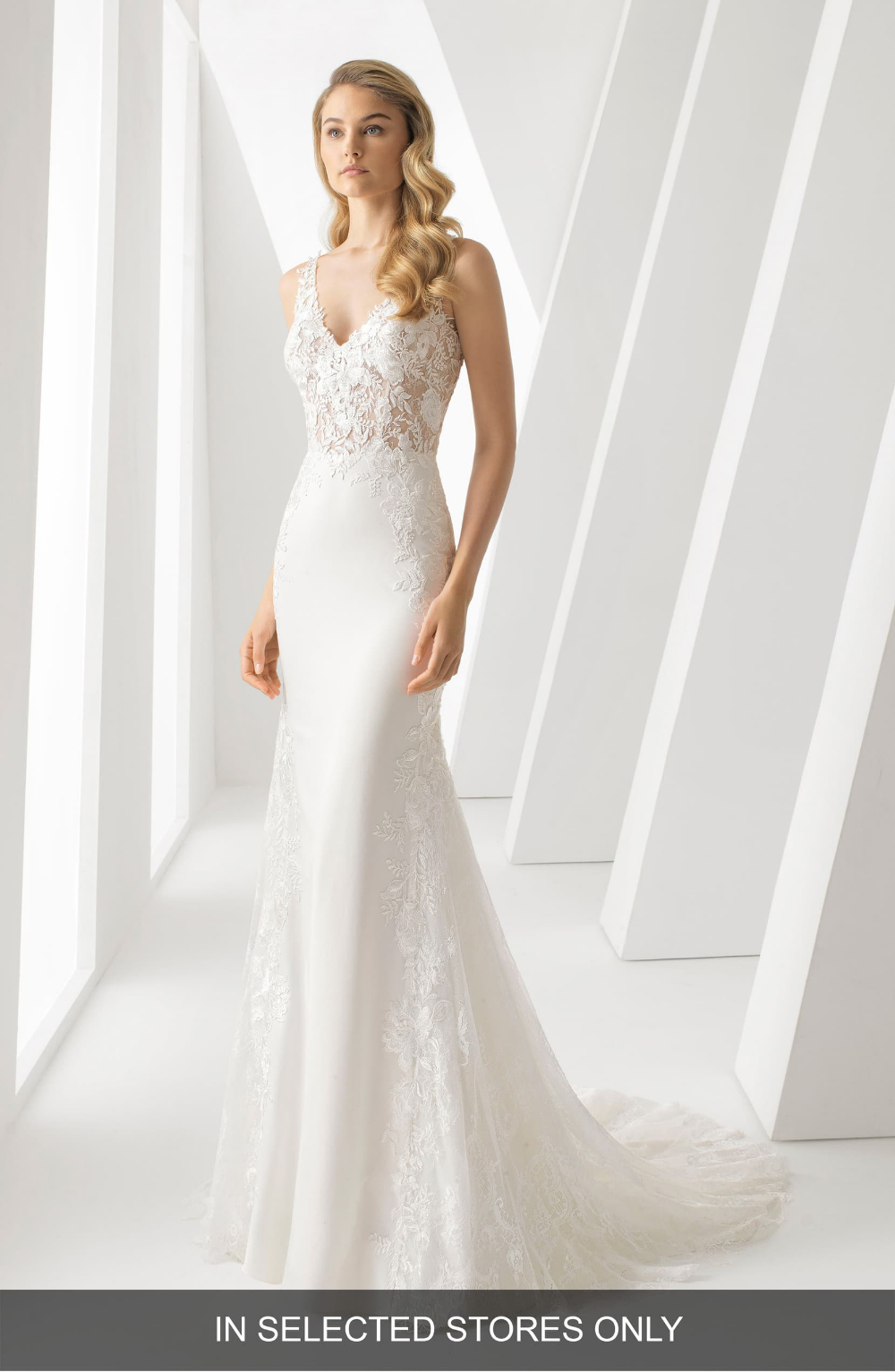 Rosa Clará Danielle Illusion Lace Bodice Mermaid Gown