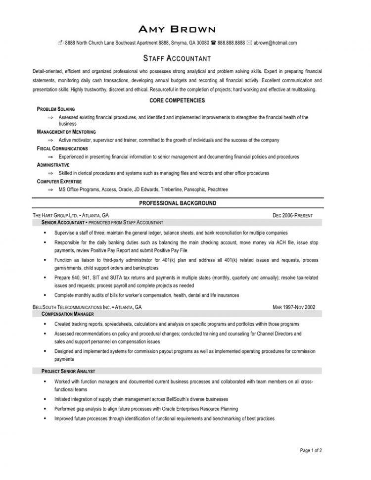 Tax Staff Accountant Resume Objective Job Lamp Picture  Home