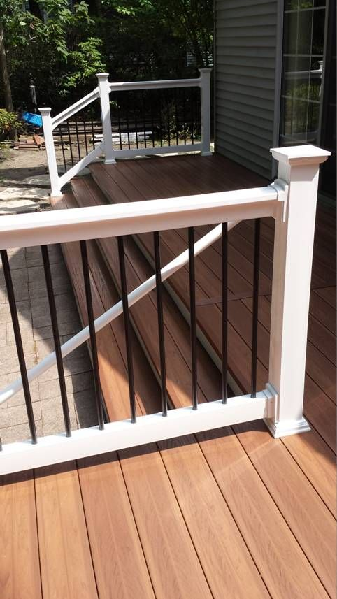 Vinyl Railing With Aluminum Spindles, All Our Products. Great Look! Check  More Out