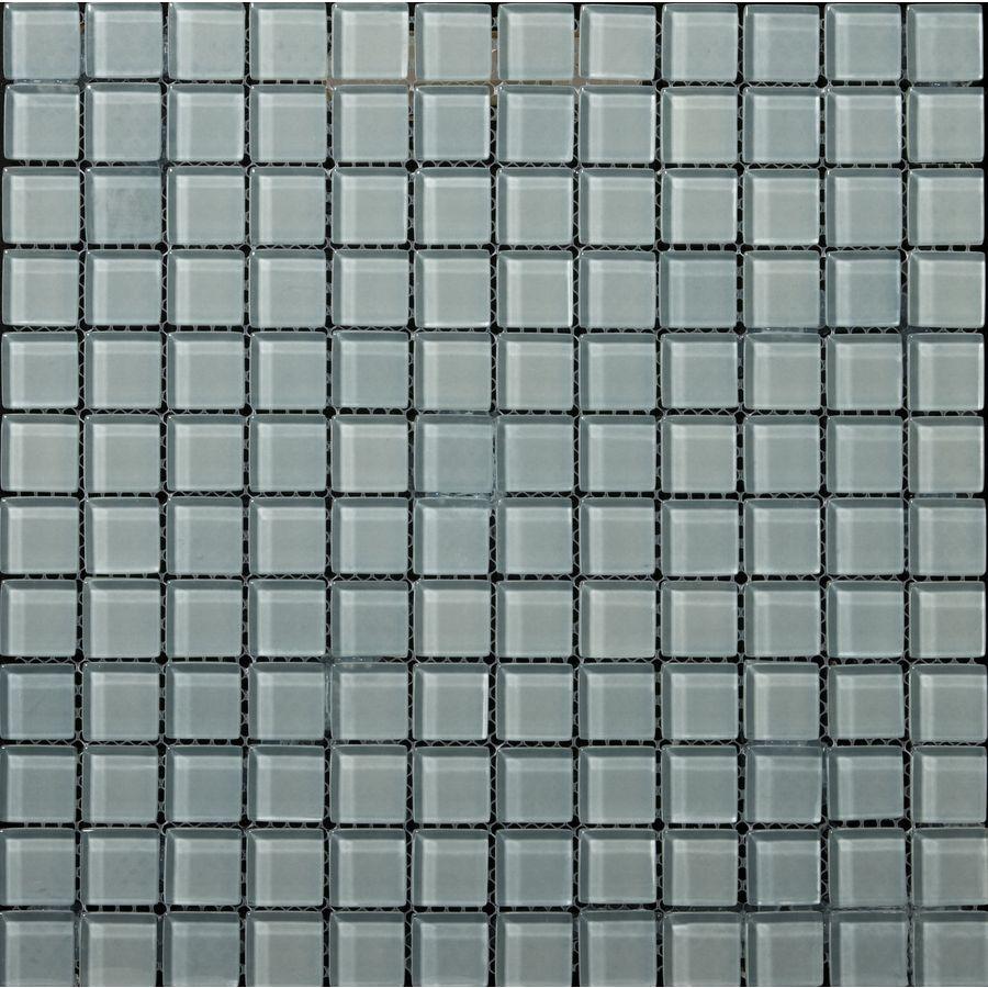 Shop Emser 12 In X 12 In Lucente Ciello Glass Mosaic