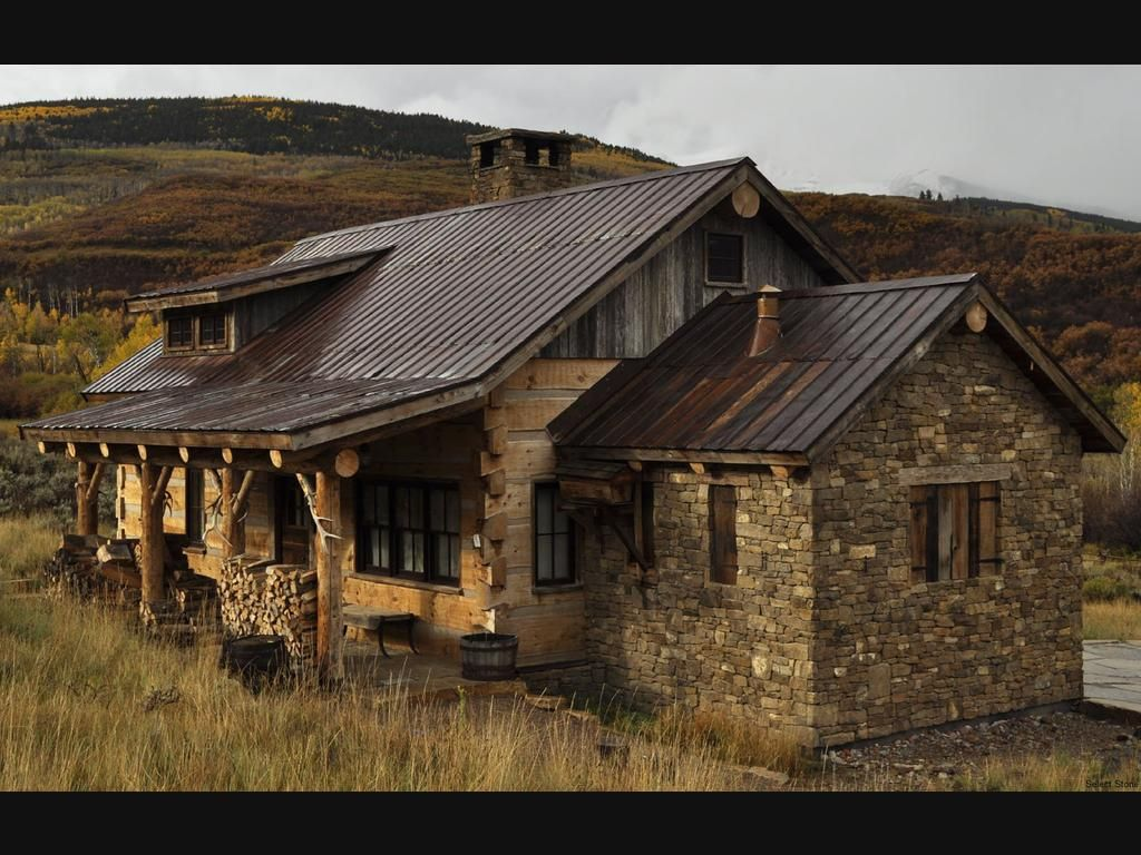 The homestead is a weathered fieldstone from the plains of for Rustic cabin homes