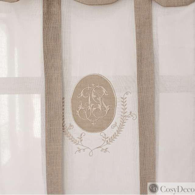 Vente en ligne store brise bise cantonni re coloris lin Rideaux largeur 55 cm