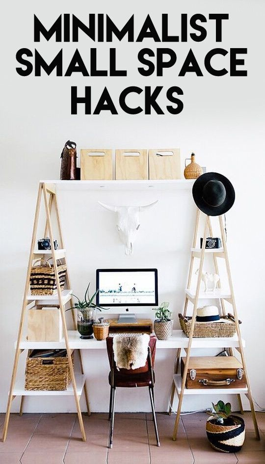 Refreshingly minimalist small space hacks space hack for Room decor organization