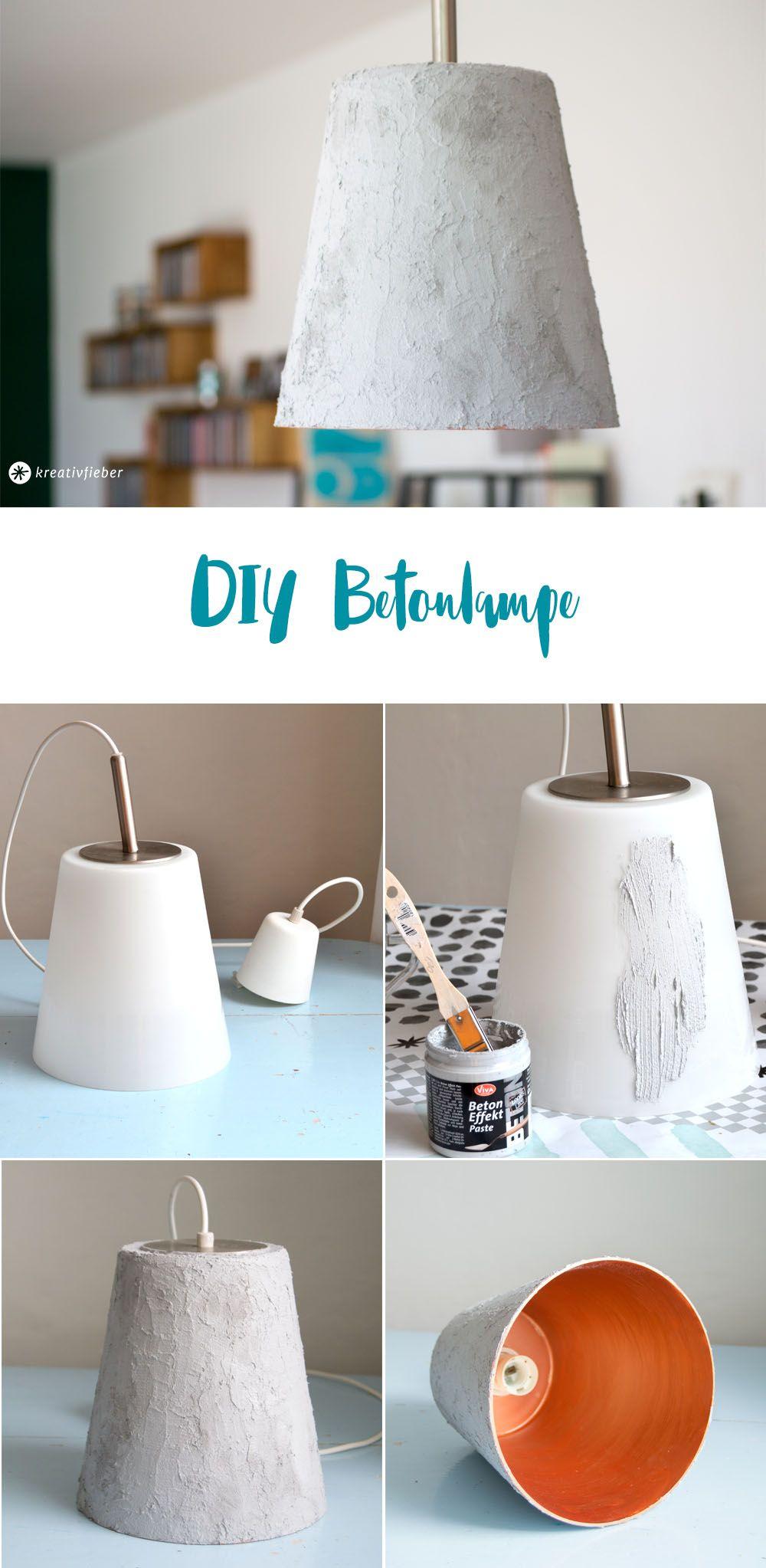 diy einfache betonlampe ohne zu gie en kreativfieber diy und bastelideen pinterest lampen. Black Bedroom Furniture Sets. Home Design Ideas