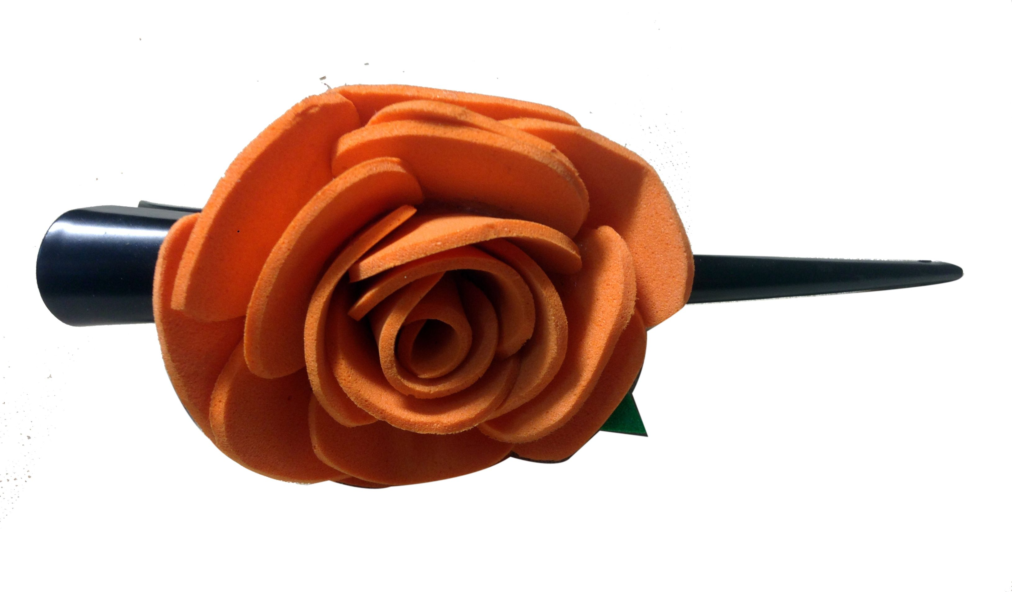 Orange color flower Banana pins (one flower), made of imported ...
