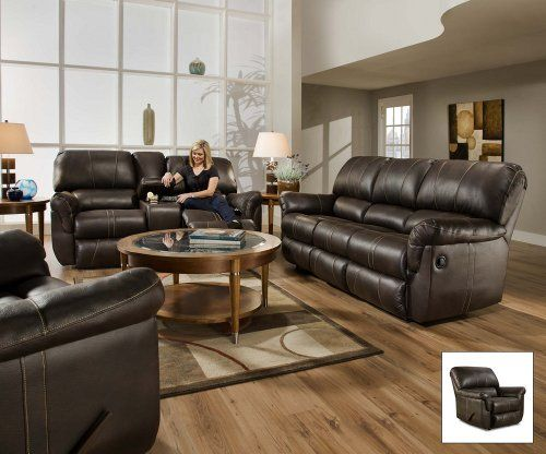 best deal simmons 50365 blackjack brown leather theater cupholders storage reclining chair. Black Bedroom Furniture Sets. Home Design Ideas