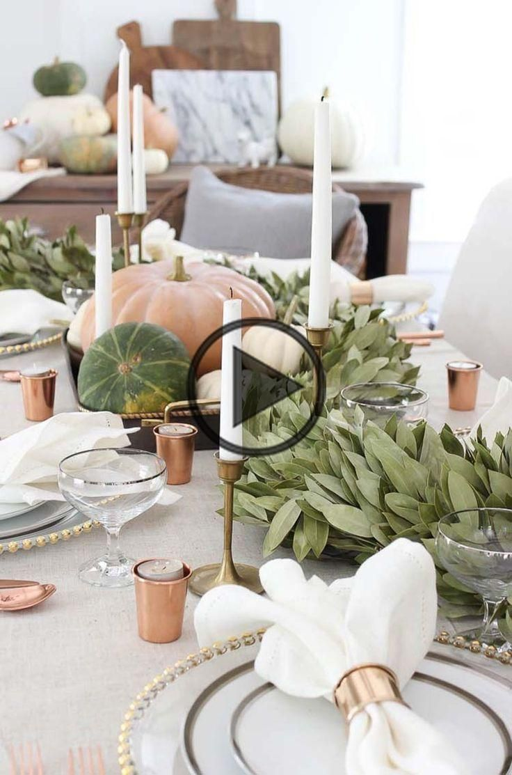 20+ Thanksgiving tablescape decorating ideas with natural elements