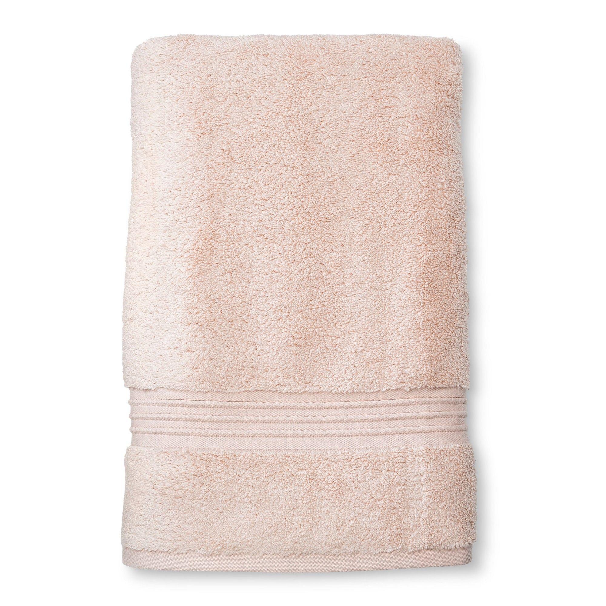 Microcotton Spa Bath Sheet Peach Stripe Fieldcrest Spa Bath