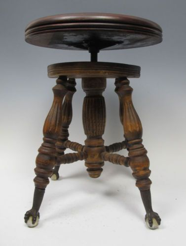 Marvelous Details About Antique Chas Parker Co Piano Stool Swivel Alphanode Cool Chair Designs And Ideas Alphanodeonline