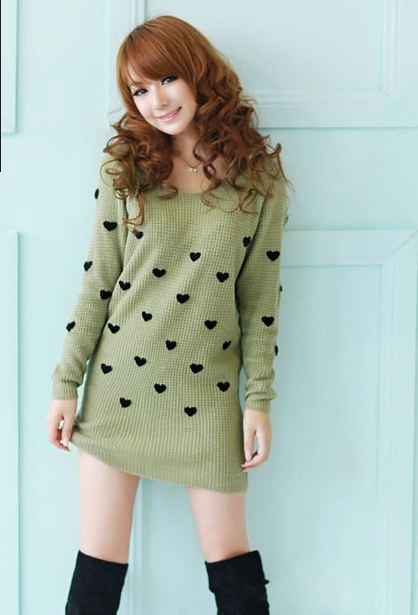 Fashion Heart Crochet Long Knitting Wear - BuyTrends.com