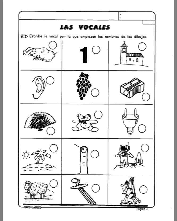Cuaderno Presilábico Para Apoyar El Aprendizaje De La Lectoescritura Actividades Vocales Lectura Y Escritura Lectoescritura